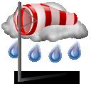 Harde wind en regen